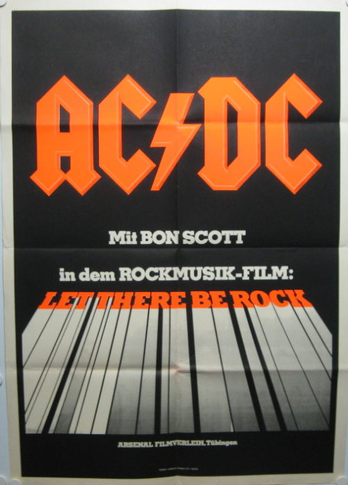 AC/DC: Let There Be Rock (Din A1 Plakat/ German One Sheet)