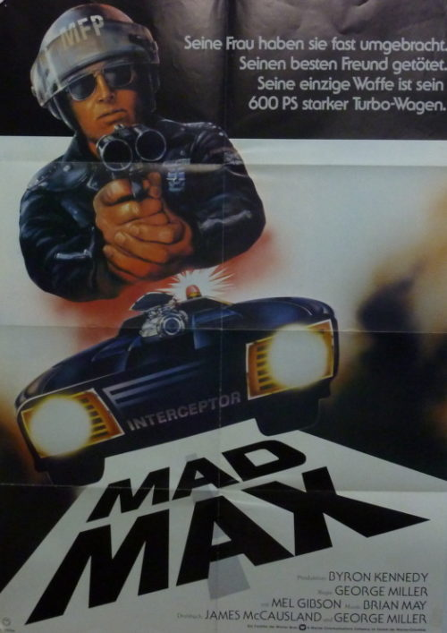 Mad Max (Din A1 Plakat/ German One Sheet)