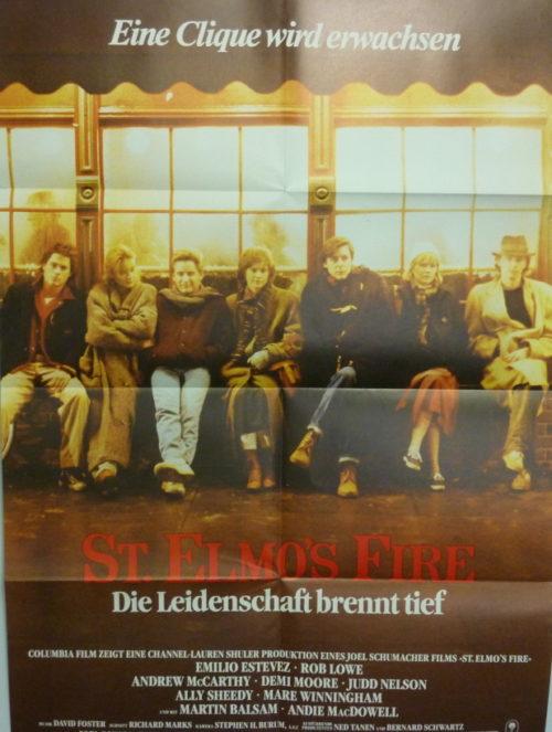 St Elmos Fire (Din A1 Plakat/ Original German One Sheet)