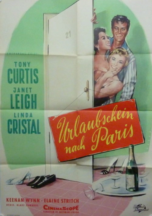 Urlaubsschein nach Paris (Din A1 Plakat/ Original German One Sheet)
