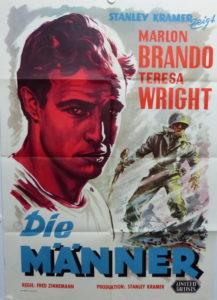 Die Männer (Din A1 Plakat/ Original German One Sheet) Marlon Brando