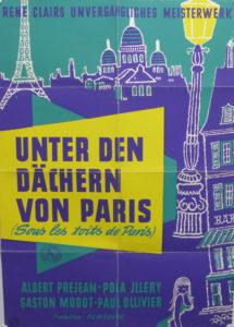 Unter den Dächern von Paris (Rene Clair)- Original Din A1 Plakat/ Original German One Sheet