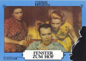 Das Fenster zum Hof ( Alfred Hitchcock/ James Stewart) 8 Aushangfotos/ 8 original german lobbycards