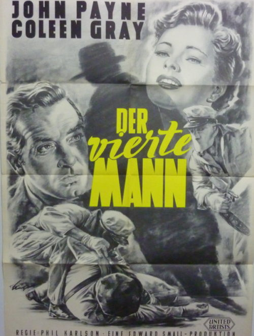 Der vierte Mann (Din A1 Plakat/ Original German One Sheet)