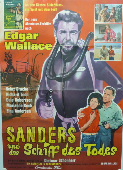 Sanders und das Schiff des Todes (Din A1 Plakat/ Original German One Sheet) Edgar Wallace