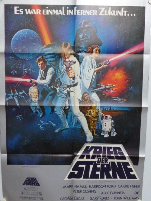 Krieg der Sterne (din A1 Plakat/ Original German One Sheet) Erstaufführung/ FIrst Release