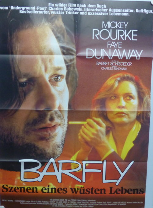 Barfly (Mickey Rourke) orig. German One-Sheet