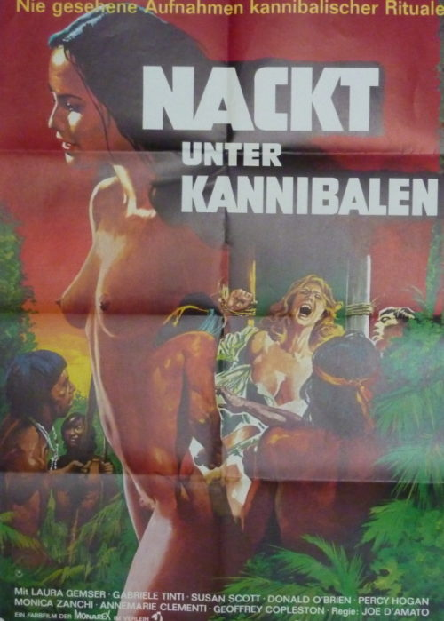 Nackt unter Kannibalen (Din A1 Plakat/ Original German One Sheet)