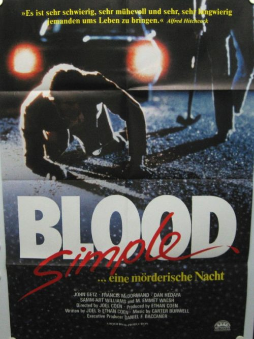 Blood Simple (Din A1 Plakat/ German One Sheet)
