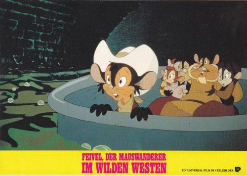Feivel, der Mauswanderer im wilden Westen (16 Aushangfotos)