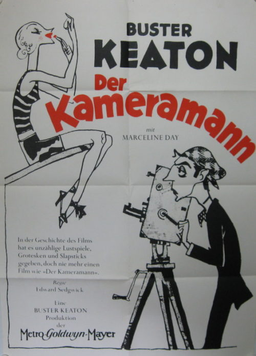 Der Kameramann (Din A1 Plakat / German One Sheet)