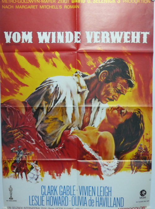 Vom Winde verweht (Original Din A1 Plakat/ Original German One Sheet)