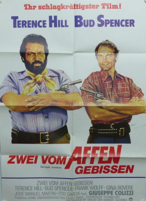 Zwei vom Affen gebissen (Gott vergibt...wir beide nicht) Din A1 Plakat/ Original German One Sheet
