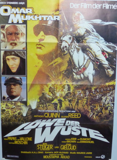 Omar Mukhtar - Löwe der Wüste (Din A1 Plakat/ Original German One Sheet) Anthony Quinn