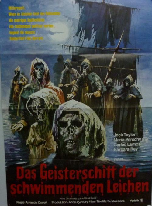 Das Geisterschiff der reitenden Leichen (Din A1 Plakat/ German One Sheet)