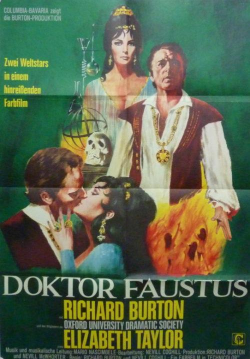 Doctor Faustus (Din A1 Plakat/ Original German One Sheet) Taylor/ Burton
