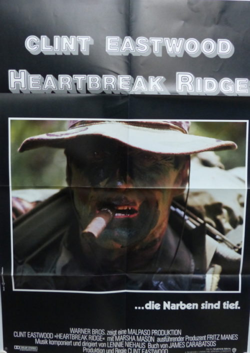 Heartbreak Ridge (Din A1 Plakat/ Original German One Sheet) Clint Eastwood