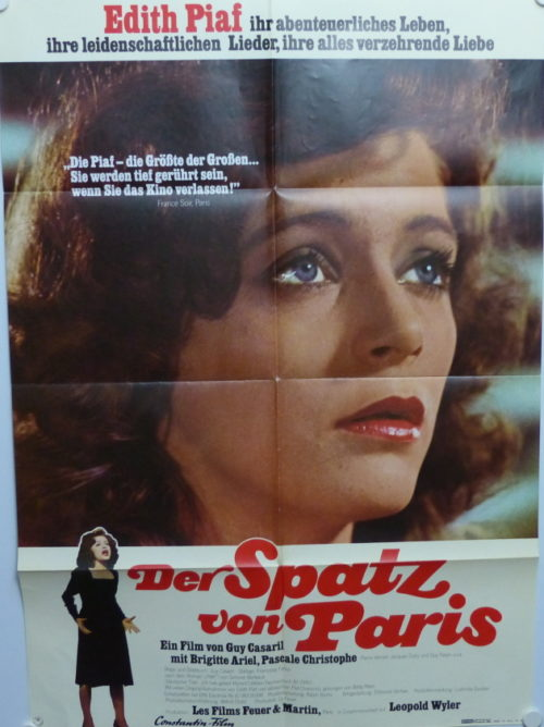 Der Spatz von Paris- Edith Piaf (Din A1 Plakat/ Original German One Sheet)