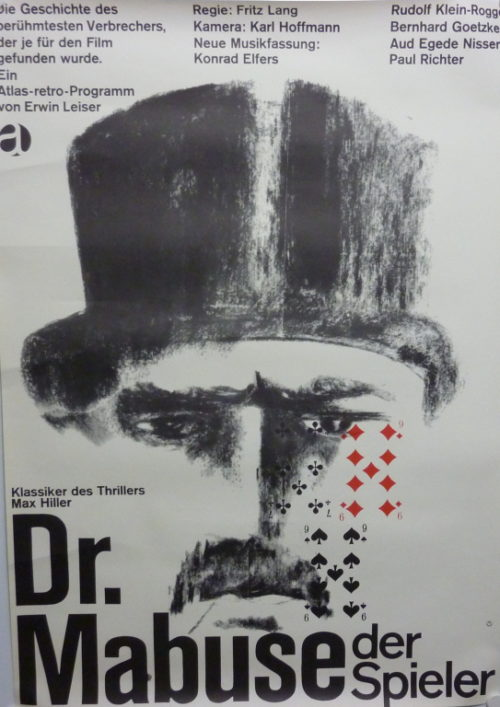 Dr. Mabuse- Der Spieler (Din A1 Plakat/ German One Sheet)